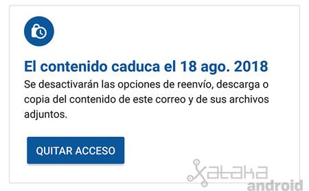 Modo Confidencial Gmail Android