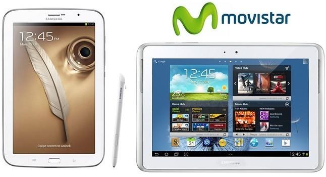Precios Samsung Galaxy Note 8 y Note 10.1 con Movistar