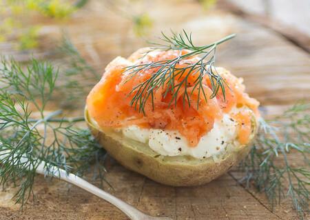 Patatas a la Escandinava con Salmon