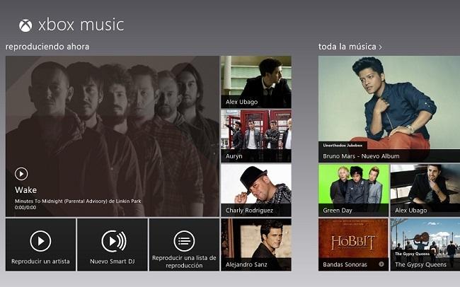 Portada Xbox Music