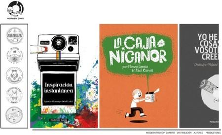 Modernito books presenta La caja de Nicanor un álbum escrito por Blanca Lacasa e ilustrado por Abel Cuevas