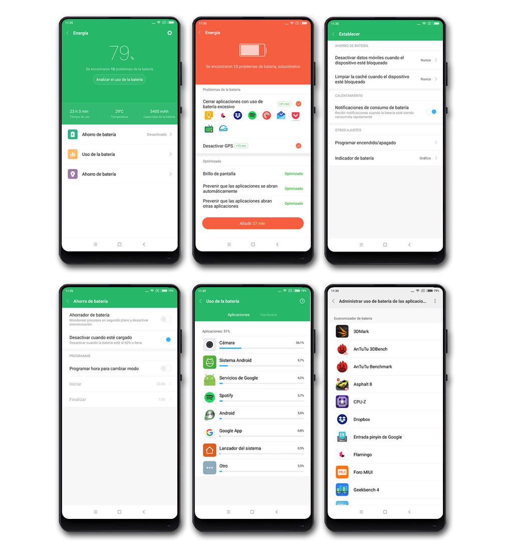 Xiaomi Mi Mix 2, autonomía