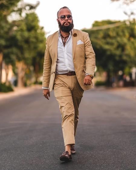 Tan Suit Men Street Style Beige Trendencias Hombre 05