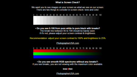 Screen Check