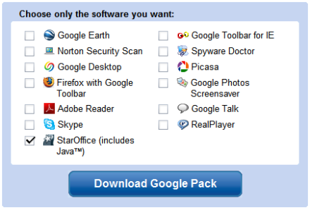 StarOffice gratis con Google Pack
