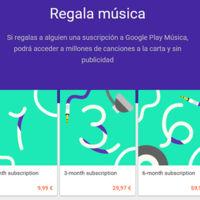 Cómo regalar una suscripción a Google Play Music