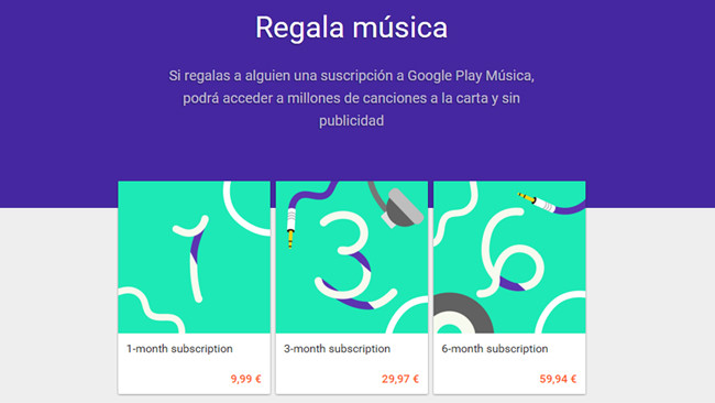 Play Music Regalar Música