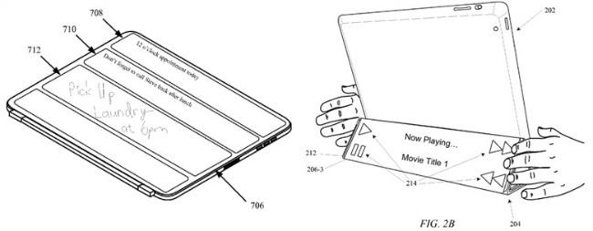 smart cover apple patente pantalla ipad controles