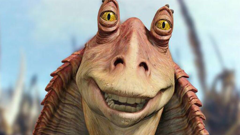 Héroe de guerra, payaso e inútil bonachón: la historia de Jar Jar Binks, el personaje más odiado de 'Star Wars', y su digno final