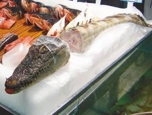 La carne de cocodrilo, una de las últimas novedades en supermercados chinos
