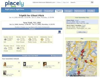 Placely: seguimiento de viajes con calendarios