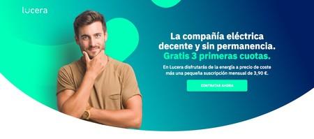 Electricidad casi a precio de coste y 3 meses gratis con Lucera
