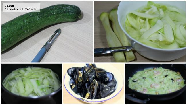 calabacines-mejillones-espaguetis