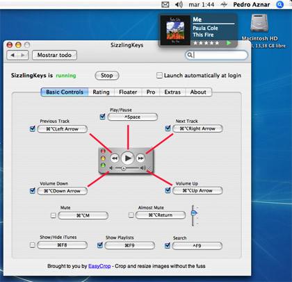 SizzlingKeys: Controla iTunes desde cualquier aplicación