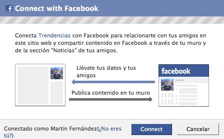 Conéctate a Trendencias con tu cuenta de Facebook