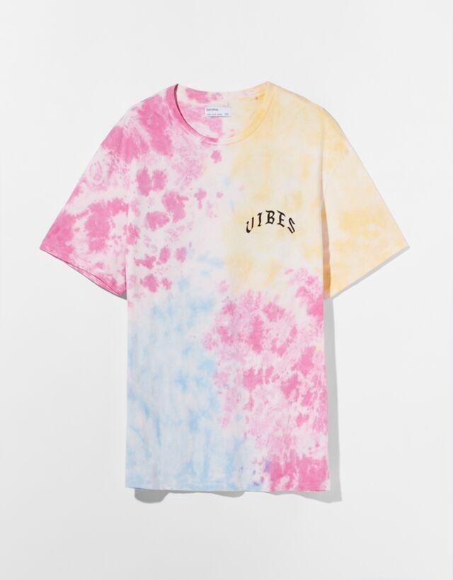 Camiseta estampado tie-dye