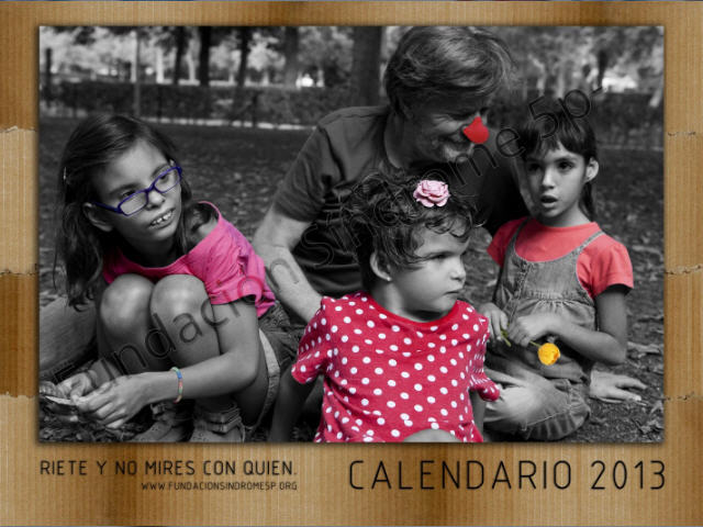 Eloy Arenas en la portada del calendario fundación síndrome 5P