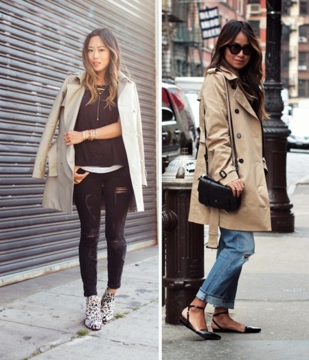 trench color beige
