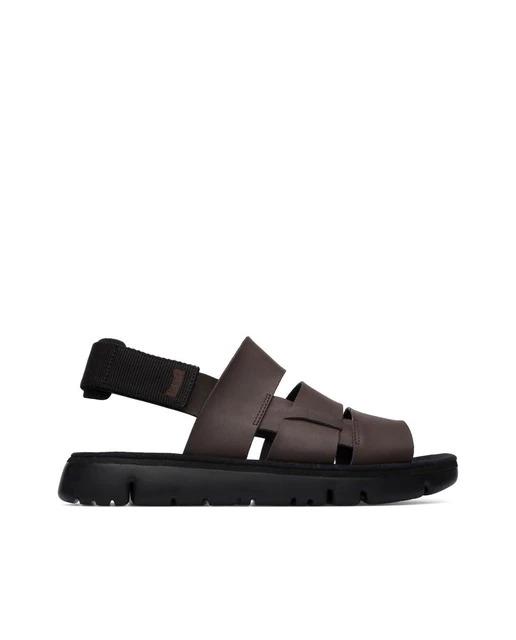 Sandalias de hombre Camper de tiras anchas en marrón oscuro