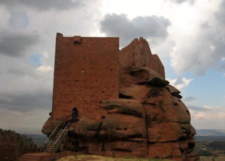 El castillo de Peracense en Teruel