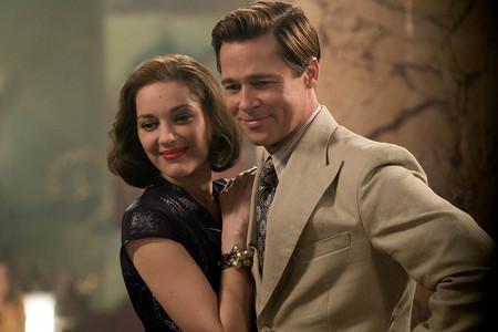 Escena Brad Pitt Y Marion Cotillard En Aliados