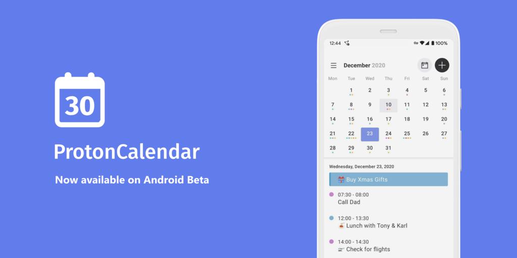 Proton Calendar aterriza en Android en fase beta: un calendario centrado en la seguridad