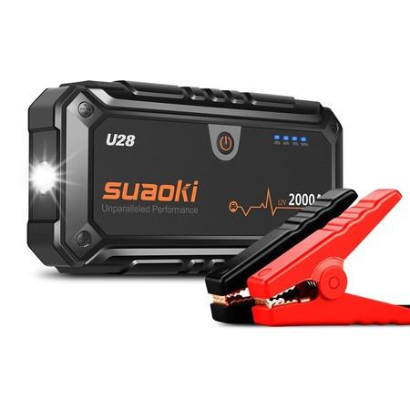 El arrancador de coche de 2000 Amperios Suaoki U28 cuesta sólo 126,74 euros en Amazon hasta medianoche