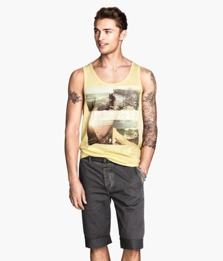 camisetas tirantes amarilla h&m