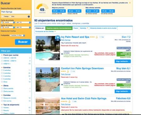 Alojamiento Palm Springs
