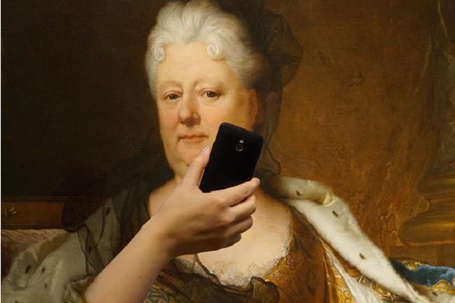 Selfies en el museo. La imagen de la semana
