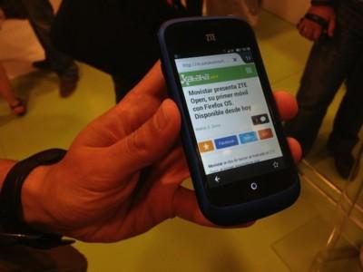 Movistar presenta ZTE Open, su primer móvil con Firefox OS. Disponible desde hoy