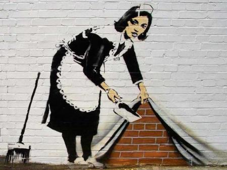 Pon un grafiti en las paredes de tu casa, pinta un mural sin tener ni idea de dibujo