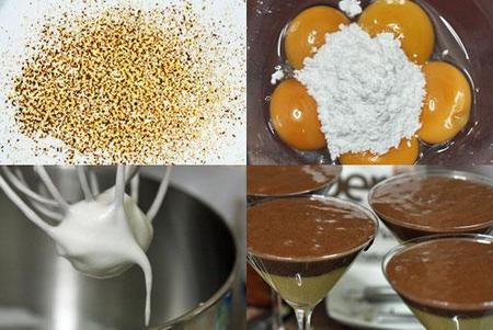 Hacer copa de mousse de chocolate y azafrán
