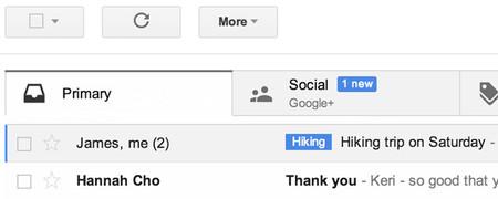 Gmail integra navegación por pestañas para mejorar la gestión de nuestro correo