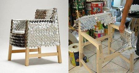 Snowjob Chair, diseñada por Godoy con envoltorios de caramelos