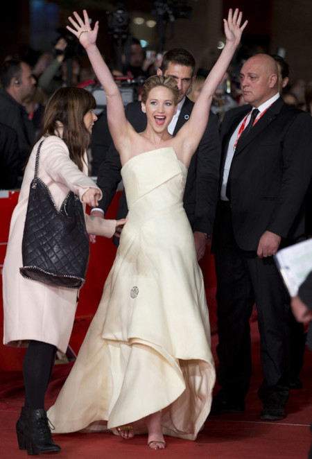 Divertida Jennifer Lawrence Dior