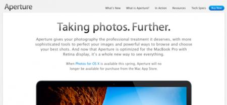 Apple confirma que Aperture desaparecerá de la Mac App Store tras la salida de Fotos