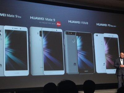 Mate 9, Nova y P9 Lite (2017), los smartphones de  Huawei que llegarán a México en 2017