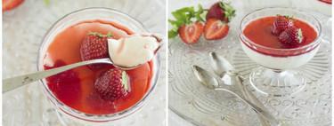 Receta de panna cotta con coulis de fresa: el postre italiano más fácil, sin horno