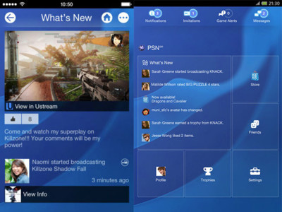 Las apps de PlayStation se preparan para la PS4