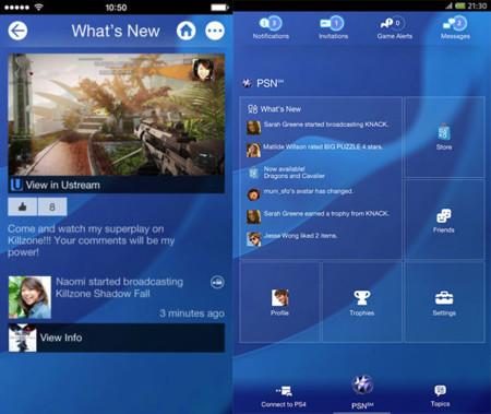 Las apps de PlayStation se preparan para la PS4