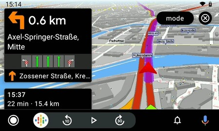Mapfactor Android Auto