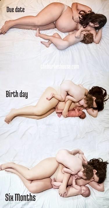 La bonita foto que muestra la lactancia en tándem de una madre a lo largo del tiempo