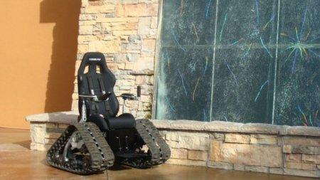 La silla tanque es el medio de transporte ideal