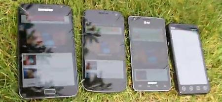 Comparativa de pantallas en exteriores: Galaxy SII vs. Galaxy Note vs. Galaxy Nexus vs. HTC Evo 3D [en vídeo]