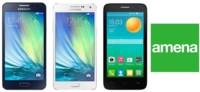 Precios Samsung Galaxy A3, Galaxy A5 y Alcatel Pop D5 con Amena