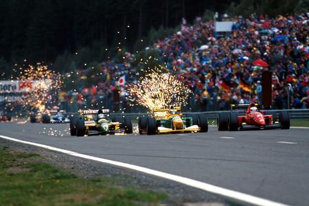 GP Bélgica 1992 - Mika Häkkinen, Michael Schumacher, Jean Alesi