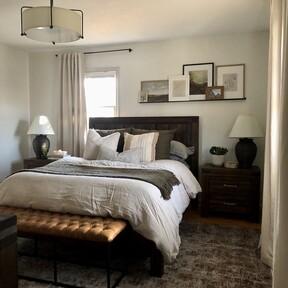 Antes y después: una habitación de matrimonio que renueva textiles y completa detalles decorativos