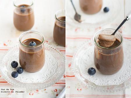 Resultat d'imatges de panna cota de turron de chocolate