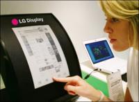 Pantalla de tinta electrónica flexible y de 11.5 pulgadas de LG